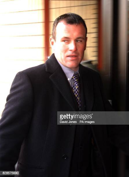 Policeman Mark Hobrough, husband of TV's 'Survivor' winner Charlotte Hobrough arrives at Cardiff Magistrates court, where he is charged with indecent...