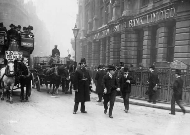 Policeman on duty near Bank station, London.