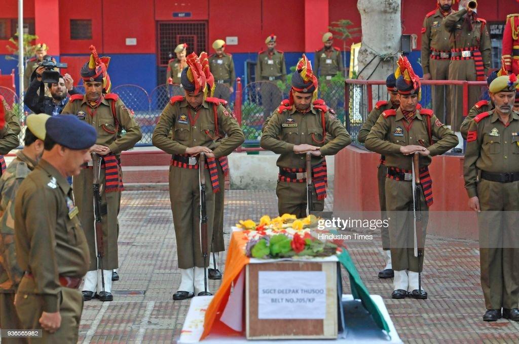 Wreath Laying Ceremony Of Martyr SgCT Deepak Thusoo Held In Jammu