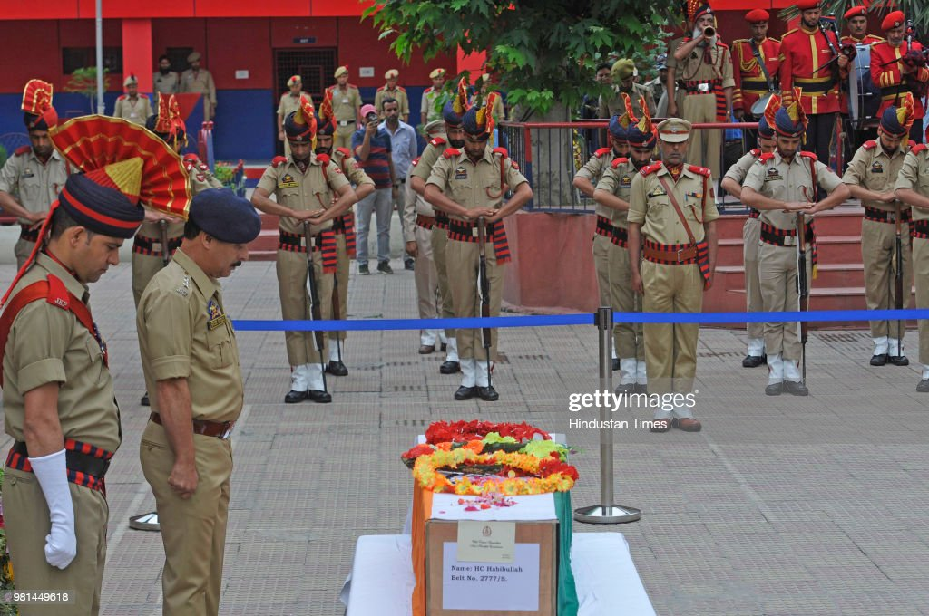Wreath Laying Ceremony For Slain Policeman In Srinagar