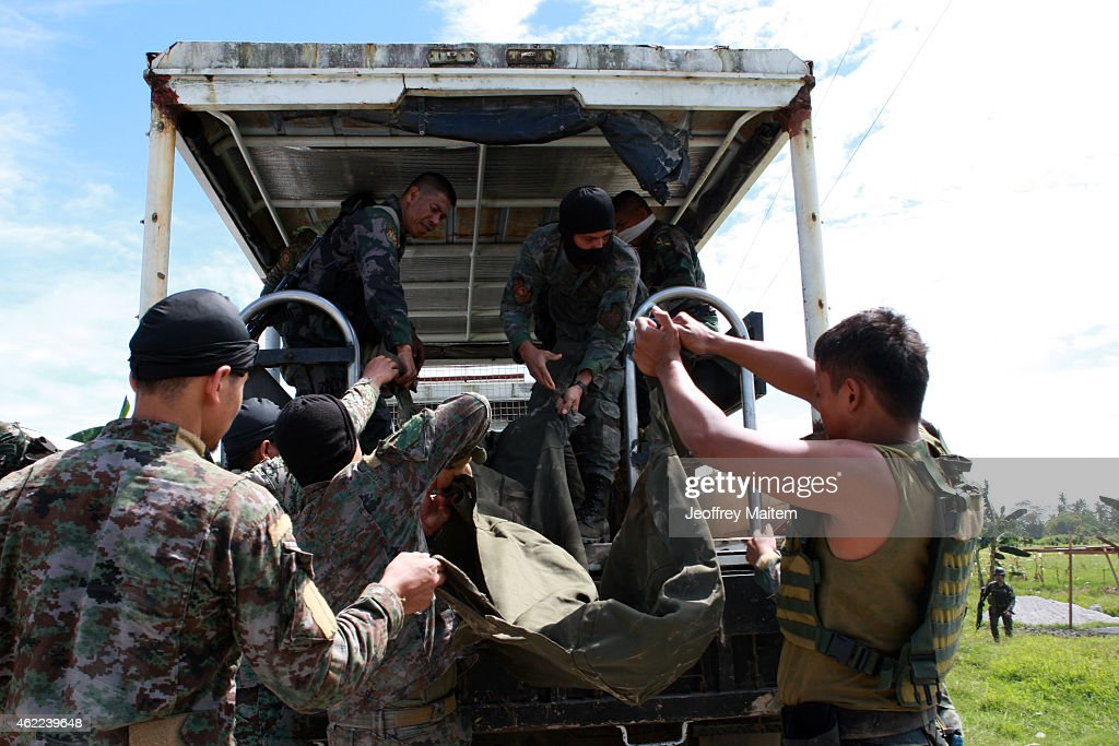 Policemen Killed During Intense Firefight In Maguindanao Province : News Photo