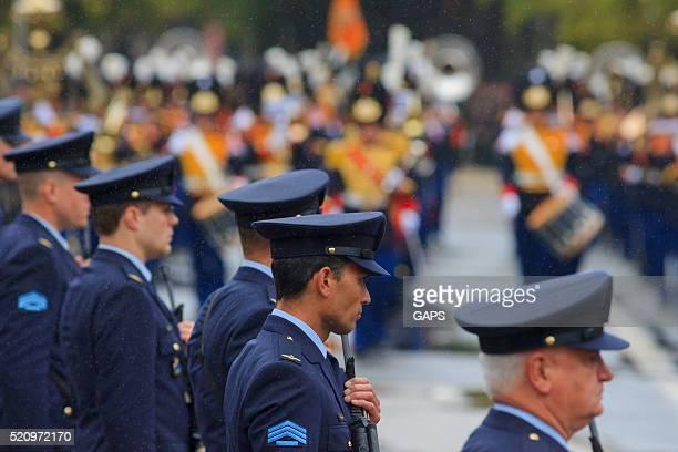 policemen on Lange Voorhout during Prinsjesdag in The Hague