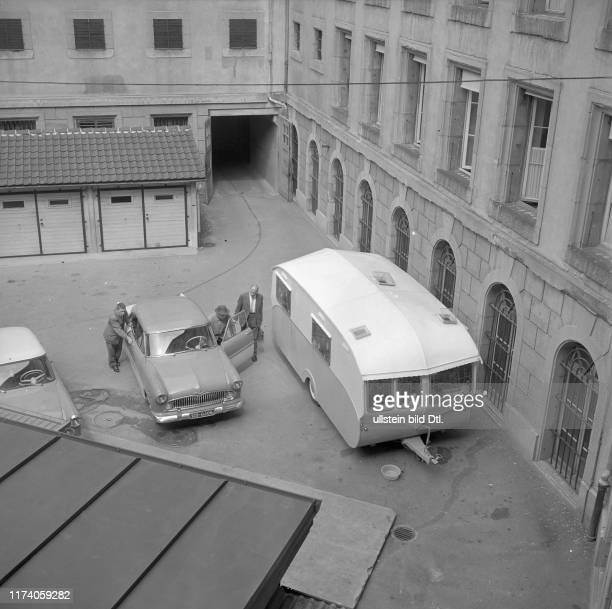 Policemen searching gypsy caravans through owners have been arrested and charged with theft Berne 1959