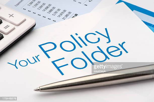 Policy Folder for insurance documents