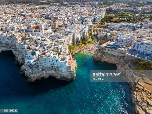 polignano a mare, puglia, italy - italy stock pictures, royalty-free photos & images