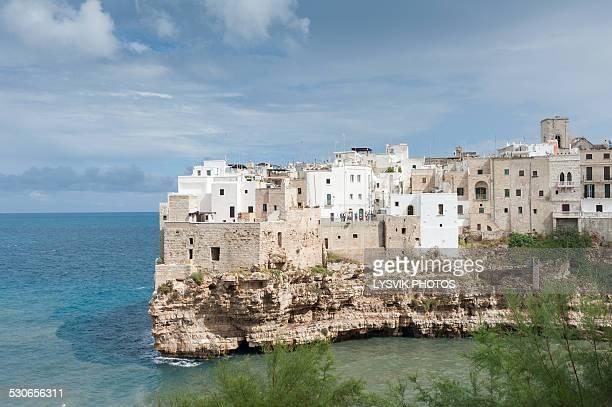 Polignano a Mare scenic town build on rocks