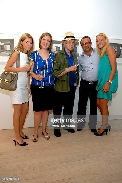Polina Berlin Veronica Roberts Jonas Mekas Harry Stendhal and Anna Karetny attend GENERATION OBAMA and HARRY STENDHAL host ART CRAWL for OBAMA After...