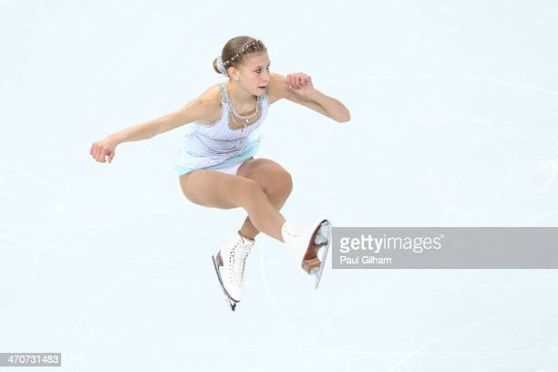 Polina Edmonds of the United States competes in the Figure Skating Ladies' Free Skating on day 13 of the Sochi 2014 Winter Olympics at Iceberg...