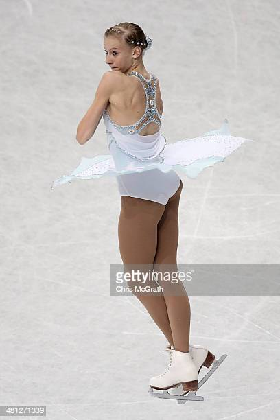 Polina Edmunds of the USA competes in the Ladies Free Skating during ISU World Figure Skating Championships at Saitama Super Arena on March 29, 2014...