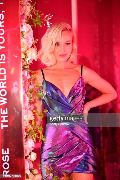 Polina Gagarina attends the Lancôme announces Zendaya as face of new Idôle fragrance at Palais D'Iena on July 02 2019 in Paris France