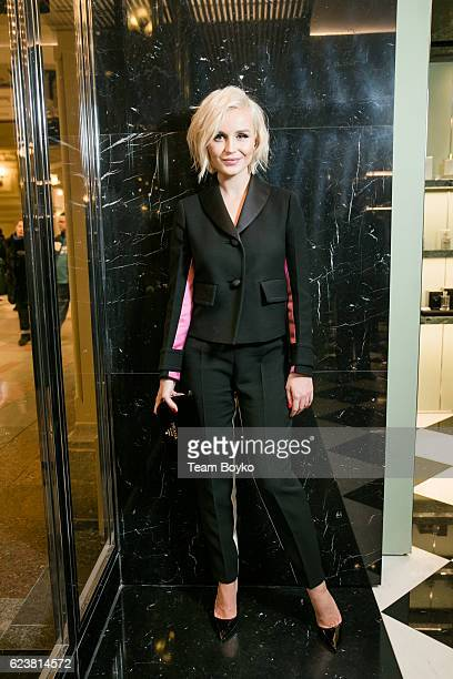 Polina Gagarina attends the screening of 'Past Forward' a movie by David O Russell presented by Prada on November 16 2016 in Moscow Russia