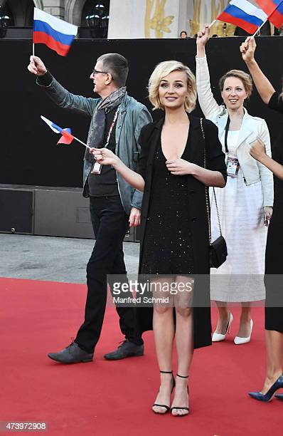 Polina Gagarina of Russia poses during the Opening Ceremony at Rathaus Wien ahead of the Eurovision Song Contest 2015 on May 17 2015 in Vienna Austria