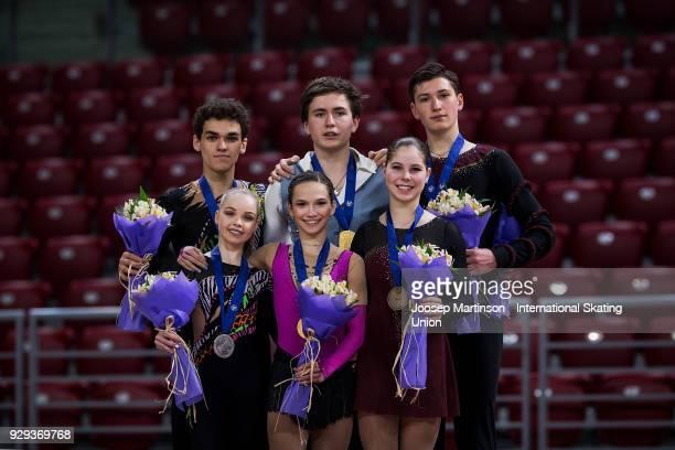 Polina Kostiukovich and Dmitrii Ialin of Russia Daria Pavliuchenko and Denis Khodykin of Russia and Anastasia Mishina and Aleksandr Galiamov of...