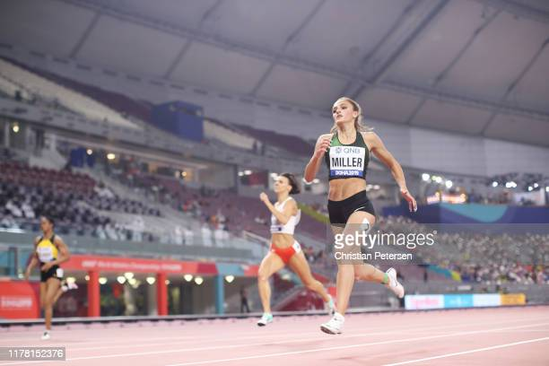 Polina Miller of the Authorised Neutral competes in the Women's 400 metres heats during day four of 17th IAAF World Athletics Championships Doha 2019...