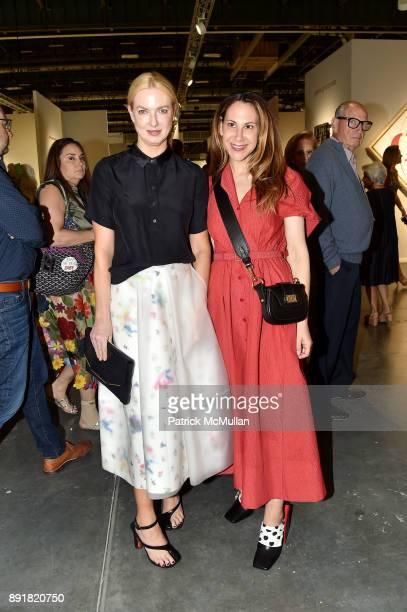 Polina Proshkina and Alyson Cafiero attend Art Basel Miami Beach Private Day at Miami Beach Convention Center on December 6 2017 in Miami Beach...