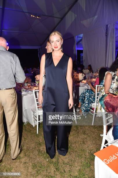 Polina Proshkina attend the Guild Hall Summer Gala 2018 at Guild Hall on August 10 2018 in East Hampton New York
