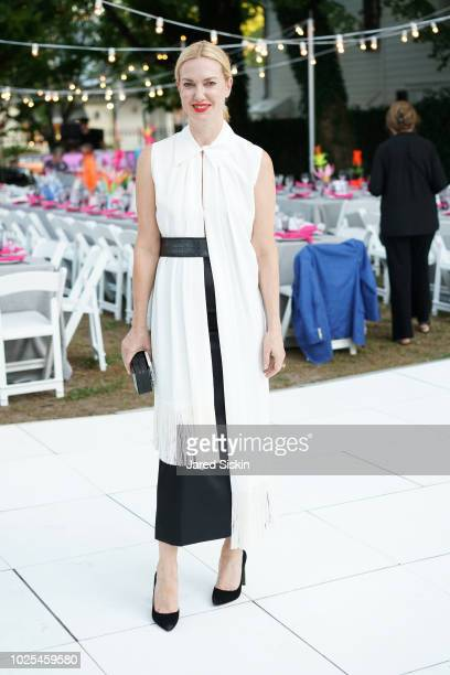 Polina Proshkina attends SummerFest 2018 Honoring Peter Marino at Southampton Arts Center on August 30 2018 in Southampton New York