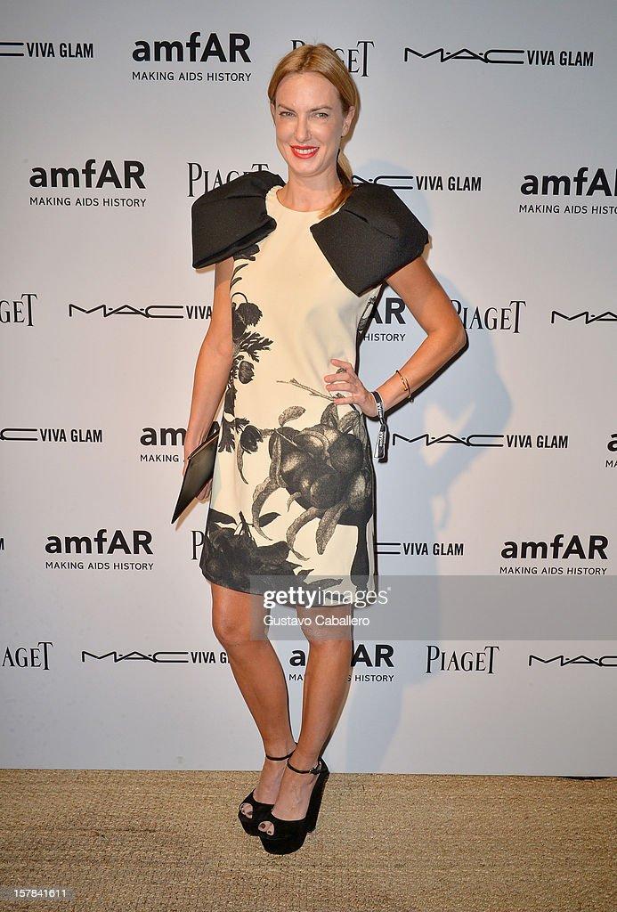 Polina Proshkina attends the amfAR Inspiration Miami Beach Party at Soho Beach House on December 6, 2012 in Miami Beach, Florida.
