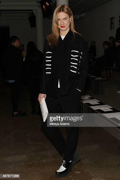 Polina Proshkina attends the Cushnie Et Ochs MADE Fashion Week Fall 2014 at Milk Studios on February 7 2014 in New York City