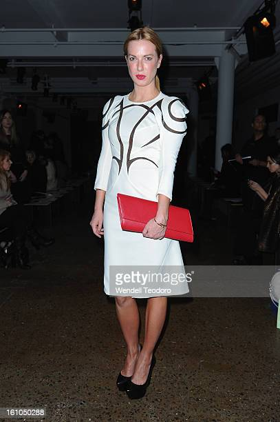 Polina Proshkina attends the Cushnie Et Ochs show during Fall 2013 MADE Fashion Week at Milk Studios on February 8 2013 in New York City