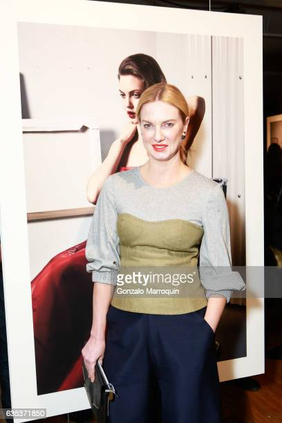 Polina Proshkina attends the Zac Posen Presentation during New York Fashion Week at 1317 Laight Street on February 14 2017 in New York City