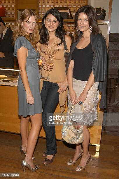 Polina Proshkina Oksana Lada and Lisa Boron attend LOUIS VUITTON party for Susan Tabak's new book CHIC IN PARIS at Louis Vuitton on September 18 2006...