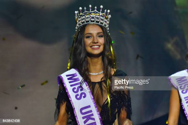 Polina Tkach Miss Ukraine 2017 winner during the Miss Ukraine 2017 final competition at Palac Ukraina in Kiev