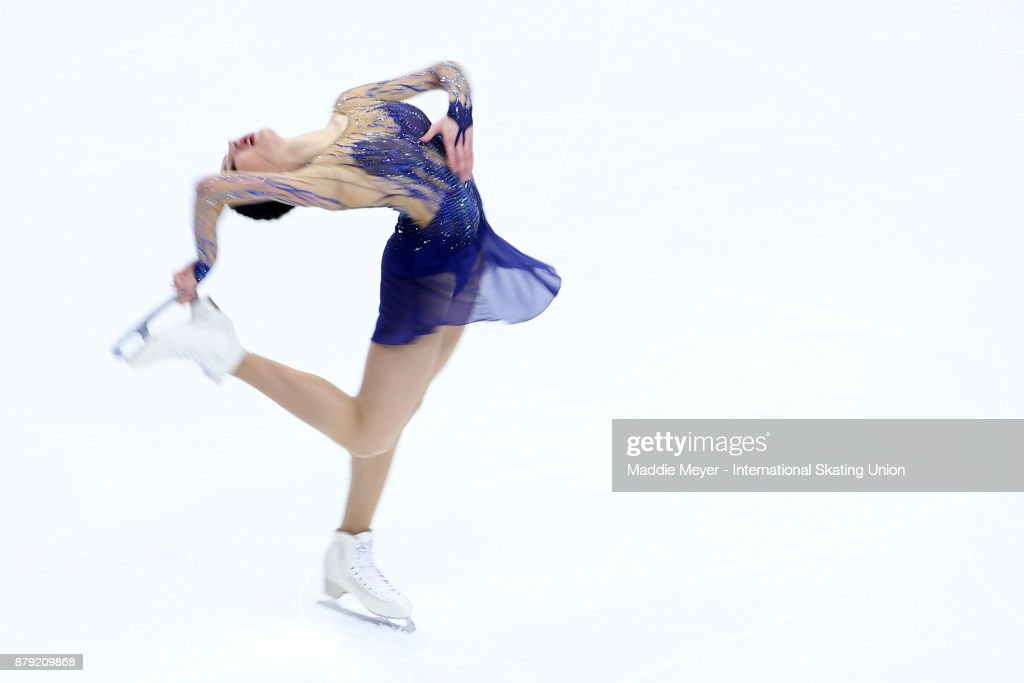 Polina Tsurskaya of Russia performs in the Ladies short program on Day 2 of the ISU Grand Prix of Figure Skating at Herb Brooks Arena on November 25, 2017 in Lake Placid, United States.