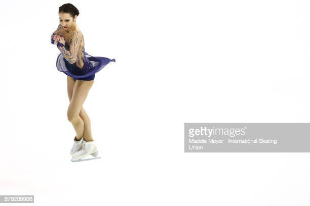 Polina Tsurskaya of Russia performs in the Ladies short program on Day 2 of the ISU Grand Prix of Figure Skating at Herb Brooks Arena on November 25...