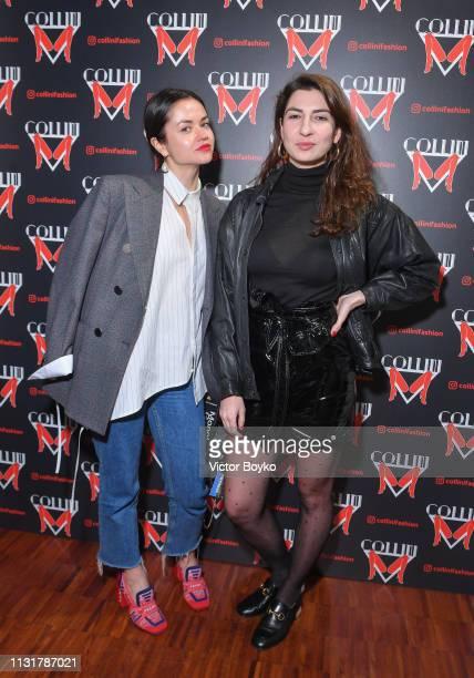 Polina Voloshyna and Renata Kharkova attend Collini Unminimal Party Milan Fashion Week Autumn / Winter 2019/20 on February 20 2019 in Milan Italy