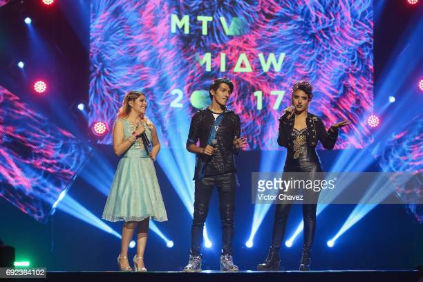 Polinesios speak on stage during the MTV MIAW Awards 2017 at Palacio de Los Deportes on June 3 2017 in Mexico City Mexico