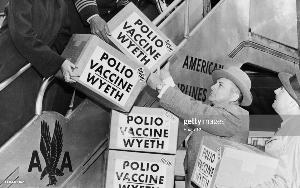 Polio Vaccine Being Shipped To Europe. : News Photo