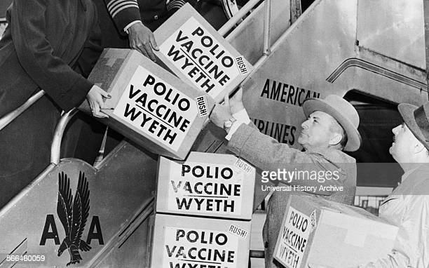 Polio Vaccine Being Shipped To Europe, 1955.