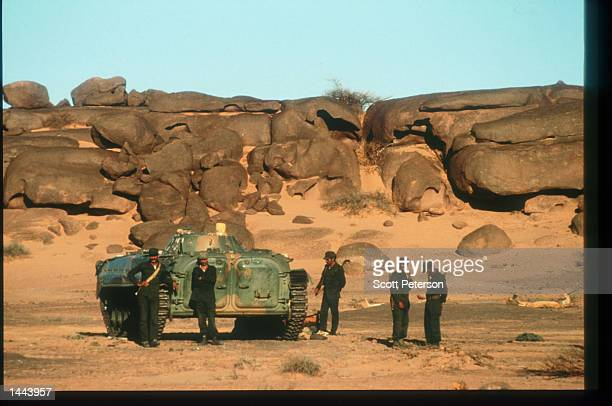 Polisario military forces stand June 18 1997 in Algeria Since 1976 Morocco and the Polisario Front have been fighting for sovereignty over the...
