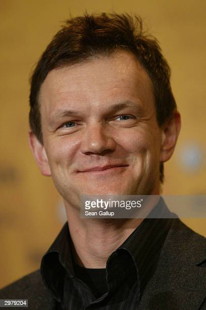 """Polish actor Cezary Pazura attends the news conference to the Polish film """"Insatiability"""" at the 54th annual Berlinale International Film Festival..."""