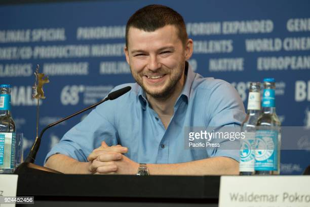 Polish actor Mateusz Kosciukiewicz at the 'Mug' press conference during the 68th Berlinale International Film Festival Berlin at Grand Hyatt Hotel