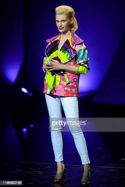 Polish actress Agata Buzek onstage during the 32nd European Film Awards at Haus Der Berliner Festspiele on December 7 2019 in Berlin Germany