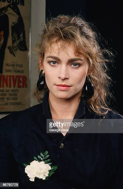 Polish actress and model Joanna Pacula poses during a 1987 Los Angeles California portrait session Pacula starred in the 1983 film Gorky Park and the...