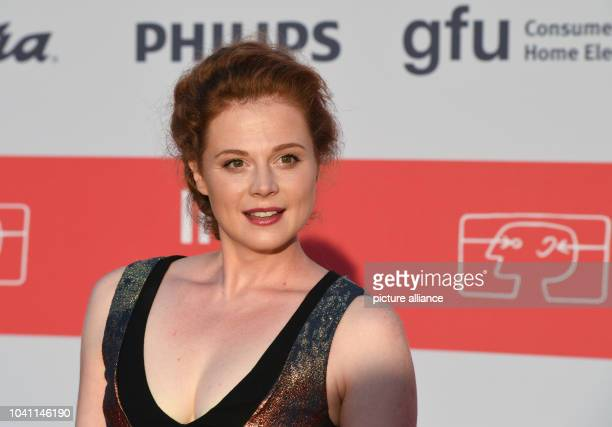 Polish actress Anja Antonowicz posing during the opening gala of the Internationale FunkAusstellung IFA electronics fair in Berlin Germany 1...