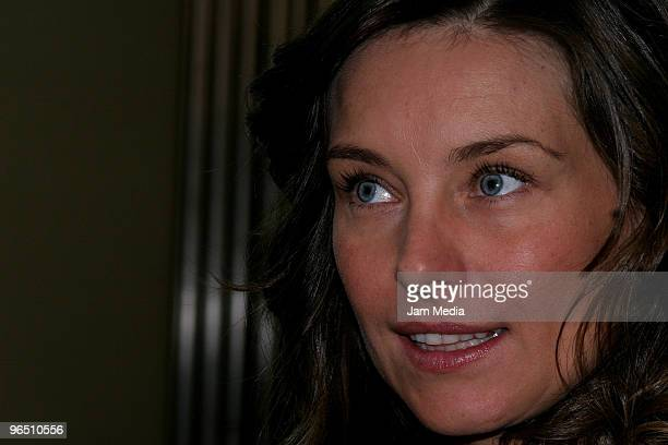 Polish actress Dominika Paleta attends the opening of the Bikram Yoga Studio at the Bikram Yoga Santa Fe on February 8 2010 in Mexico City Mexico