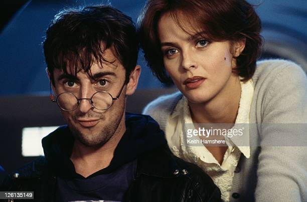 Polish actress Izabella Scorupco and Scottish actor Alan Cumming star as Russian computer programmers in the James Bond film 'GoldenEye' 1995