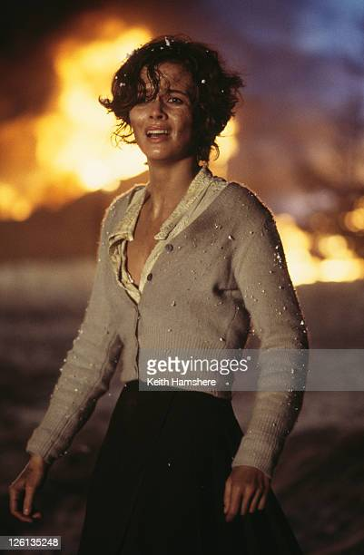 Polish actress Izabella Scorupco as computer programmer Natalya Simonova witnesses the destruction of the Severnaya bunker in a scene from the James...