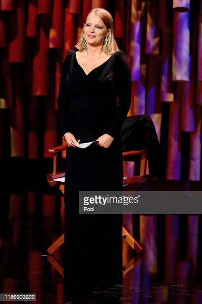 Polish actress Joanna Kulig onstage during the 32nd European Film Awards at Haus Der Berliner Festspiele on December 7 2019 in Berlin Germany