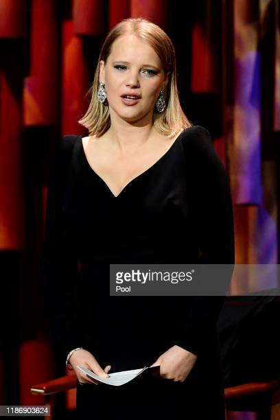 Polish actress Joanna Kulig onstage during the 32nd European Film Awards at Haus Der Berliner Festspiele on December 7, 2019 in Berlin, Germany.