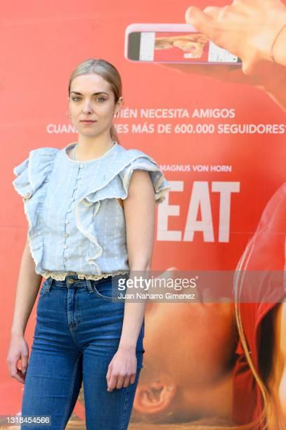 Polish actress Magdalena Kolésnik attends 'Sweat' photocall at Cine Embajadores on May 17, 2021 in Madrid, Spain.