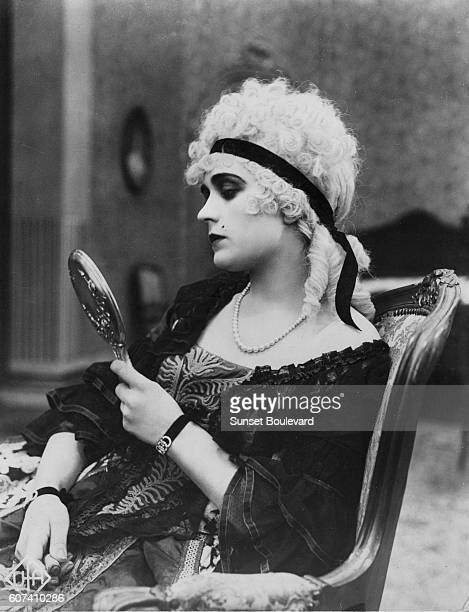 Polish actress Pola Negri on the set of Madame Du Barry based on the novel by Alexandre Dumas père and directed by German American Ernst Lubitsch