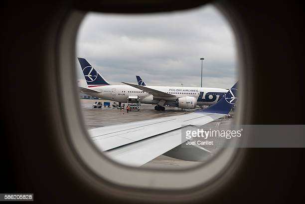 LOT Polish Airlines at Warsaw Chopin Airport