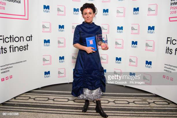 Polish author Olga Tokarczuk pictured after winning the Man Booker International prize 2018 for her book Flights at the Victoria and Albert Museum in...