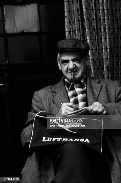 Polish born photojournalist Arthur Fellig known as 'Weegee' poses for a portrait in November 1959 in New York City New York