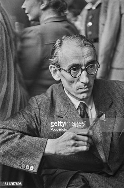 Polish born writer and author Heinrich Fraenkel attends a meeting of Anti Nazi German nationals aiming to form a Free Germany Movement at Trinity...